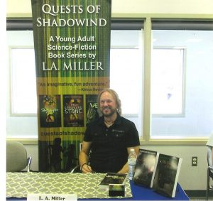 L.A. Miller, author of the science fiction book series Quests of Shadowind.
