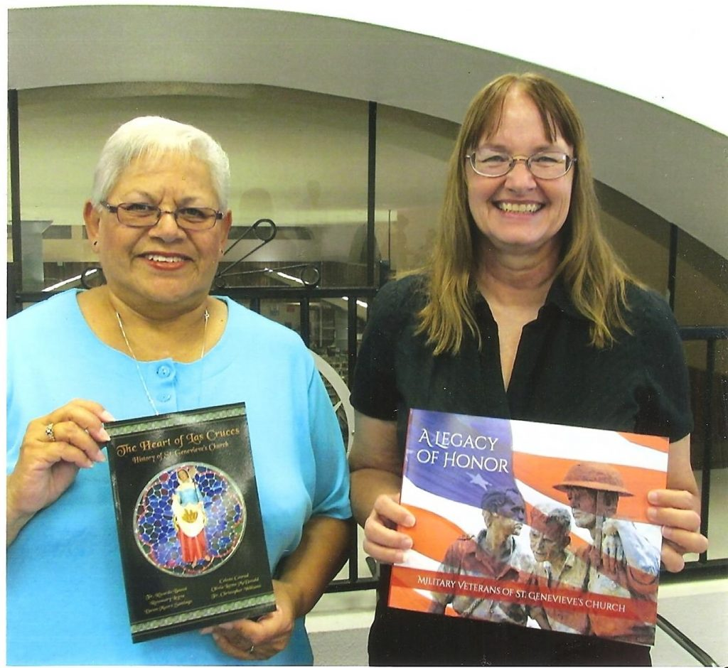 Rosemary M. Leyva and Dawn Moore Santiago, authors of The Heart of Las Cruces, History of St. Genevieve's Church.